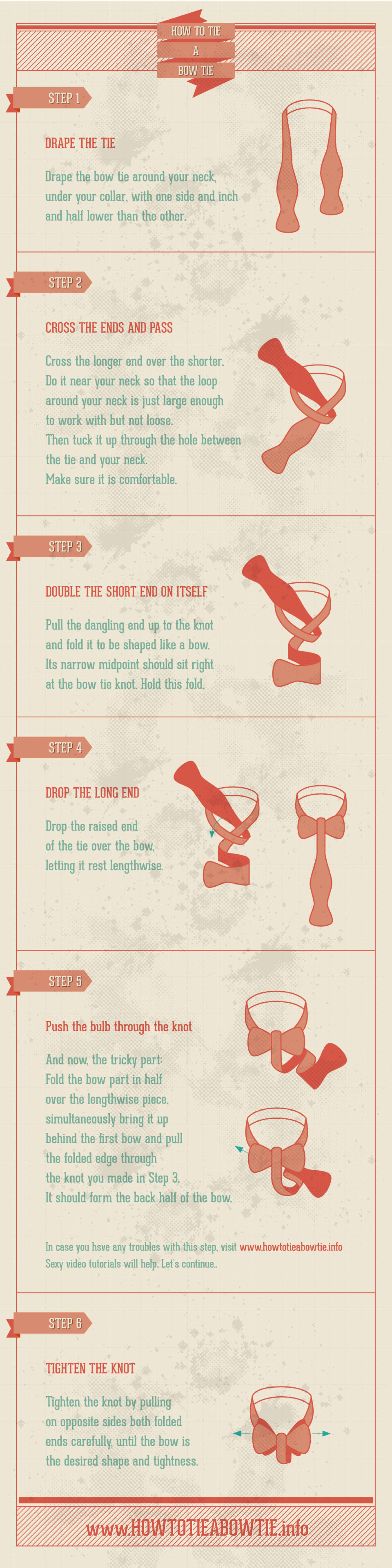 How to Tie a Bow Tie Infographic