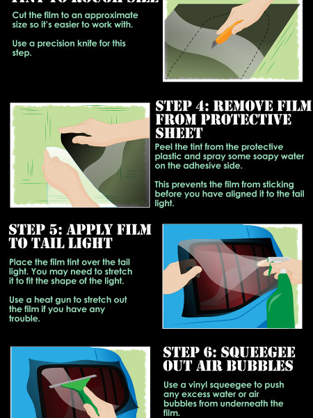 How to Tint Taillights with Film Tint  Infographic