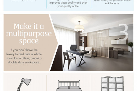 How To Transform A Room Into An Office Infographic
