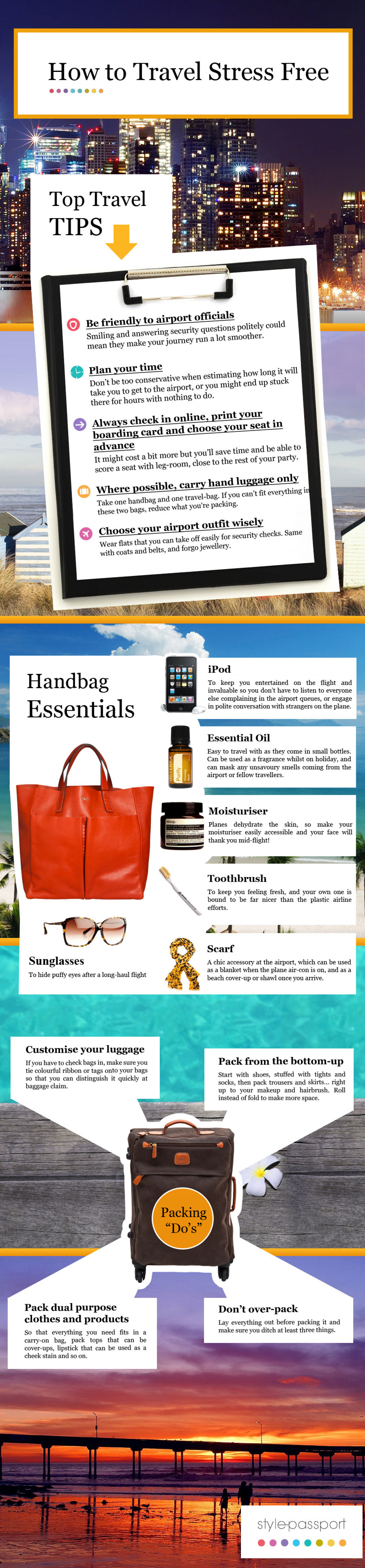 How to Travel Stress Free Infographic