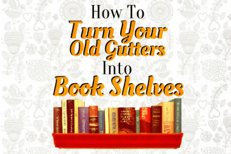 How to Turn Your Old Gutters into a Bookshelf Infographic