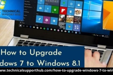 How to Upgrade Windows 7 to Windows 8.1 Infographic
