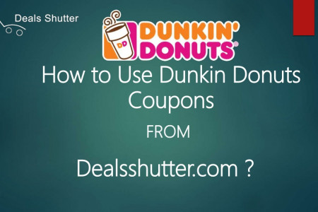 How to use Dunkin Donuts Coupons | dealsshutter.com Infographic