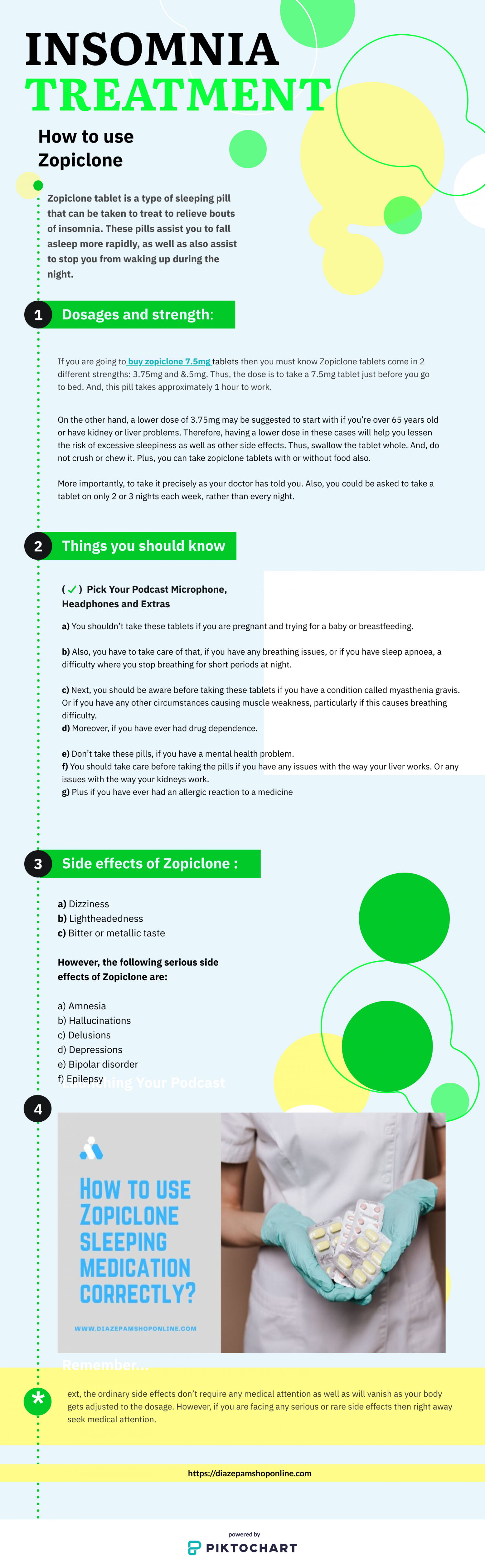 How to use Zopiclone sleeping medication correctly Infographic