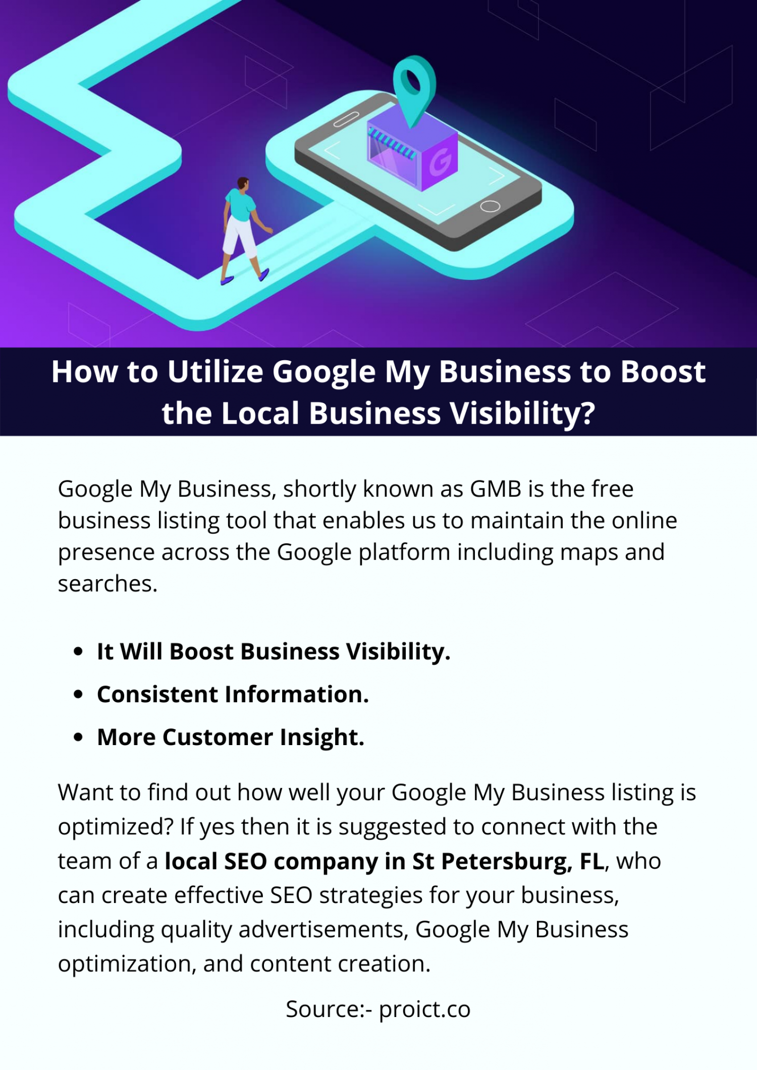 How to Utilize Google My Business to Boost the Local Business Visibility? Infographic