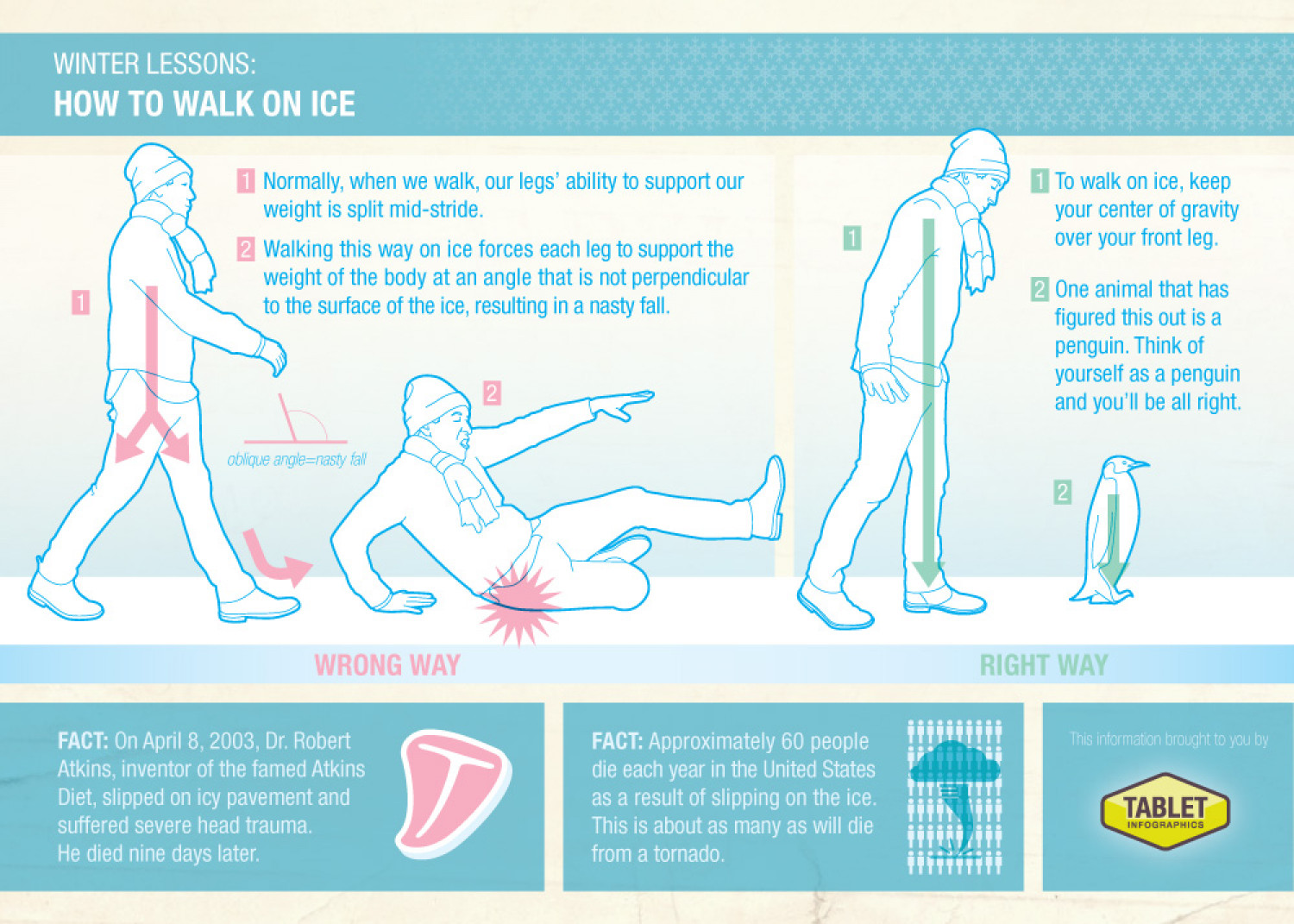 How To Walk On Ice Infographic