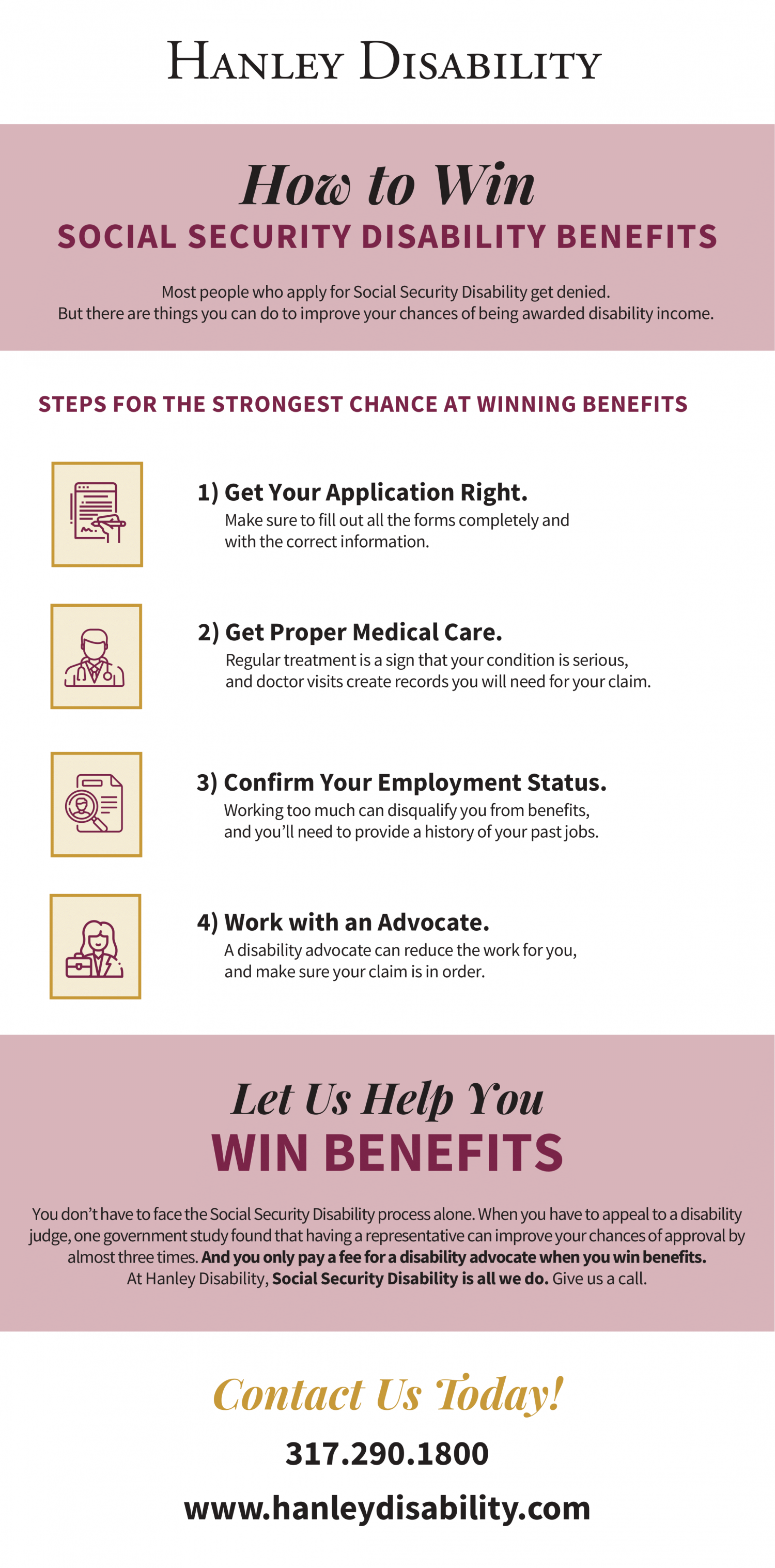 How to Win Social Security Disability Benefits Infographic