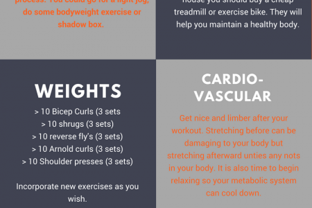 How to work from home in the gym. Infographic