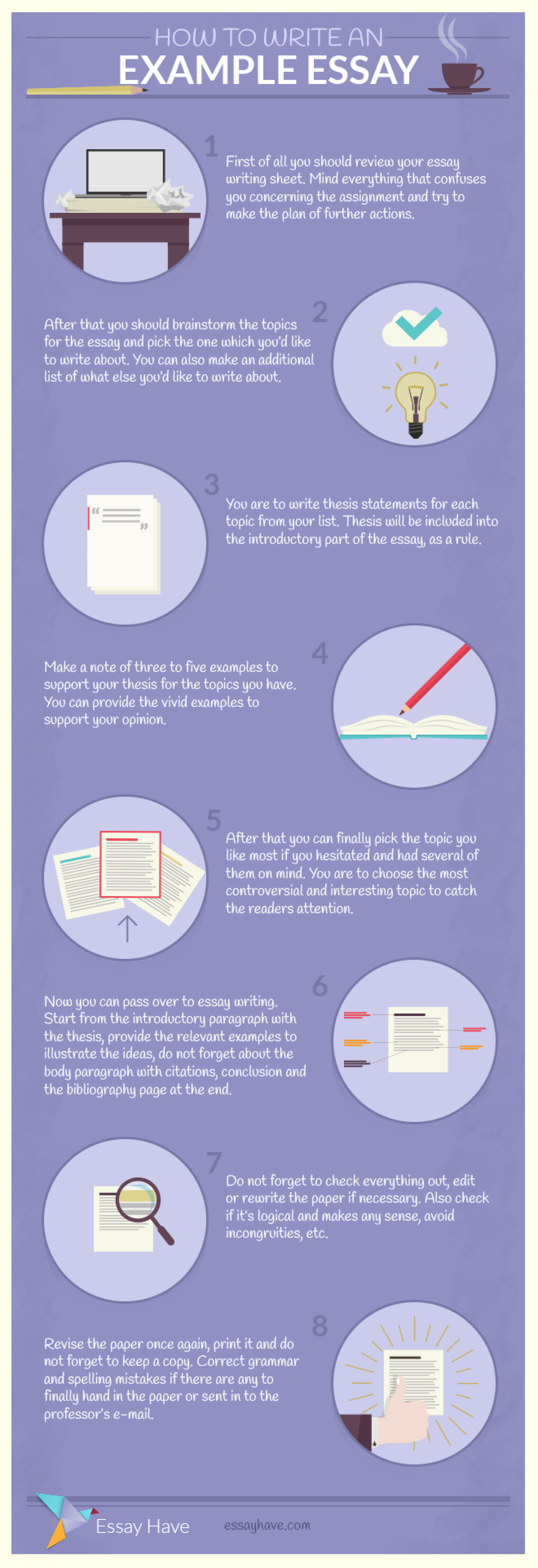 How To Write An Example Essay Infographic