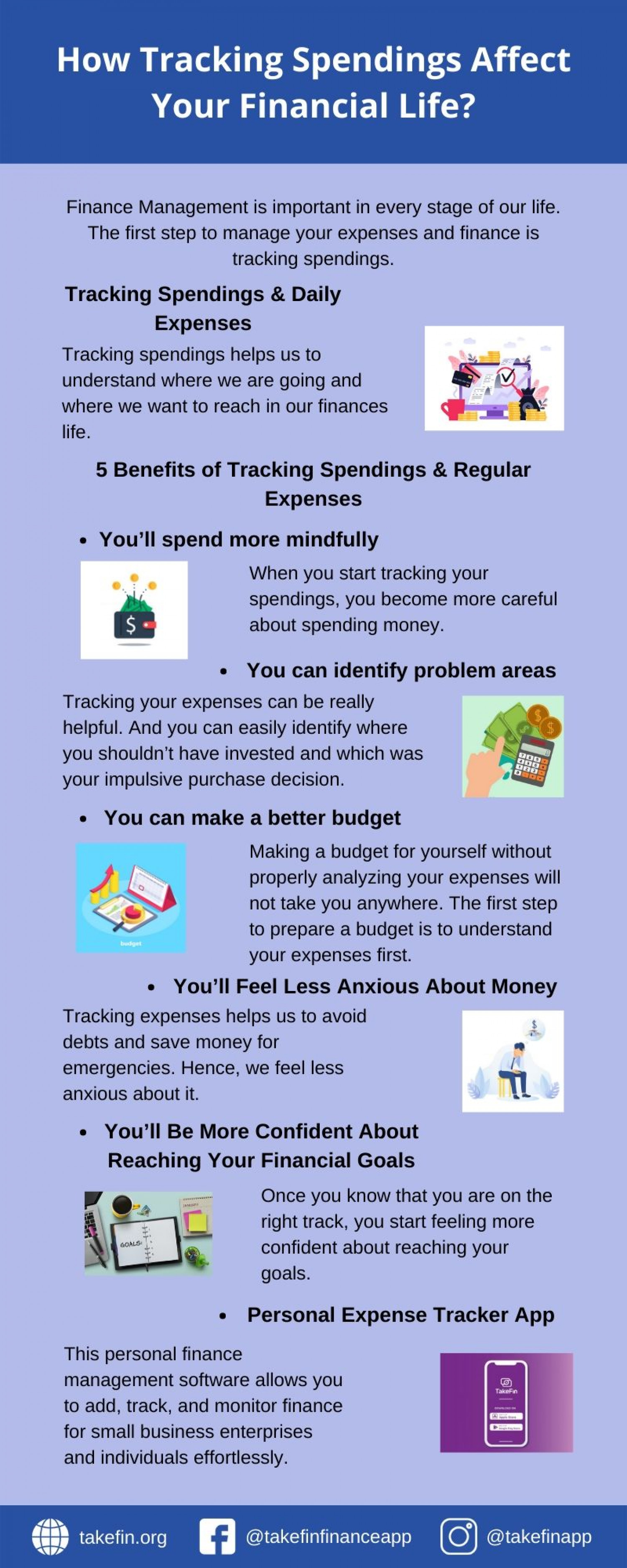 How Tracking Spendings Affect Your Financial Life? Infographic