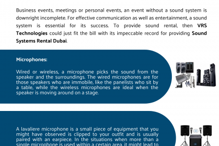 How VRS Technologies Offers Sound System Rentals for Business in Dubai Infographic