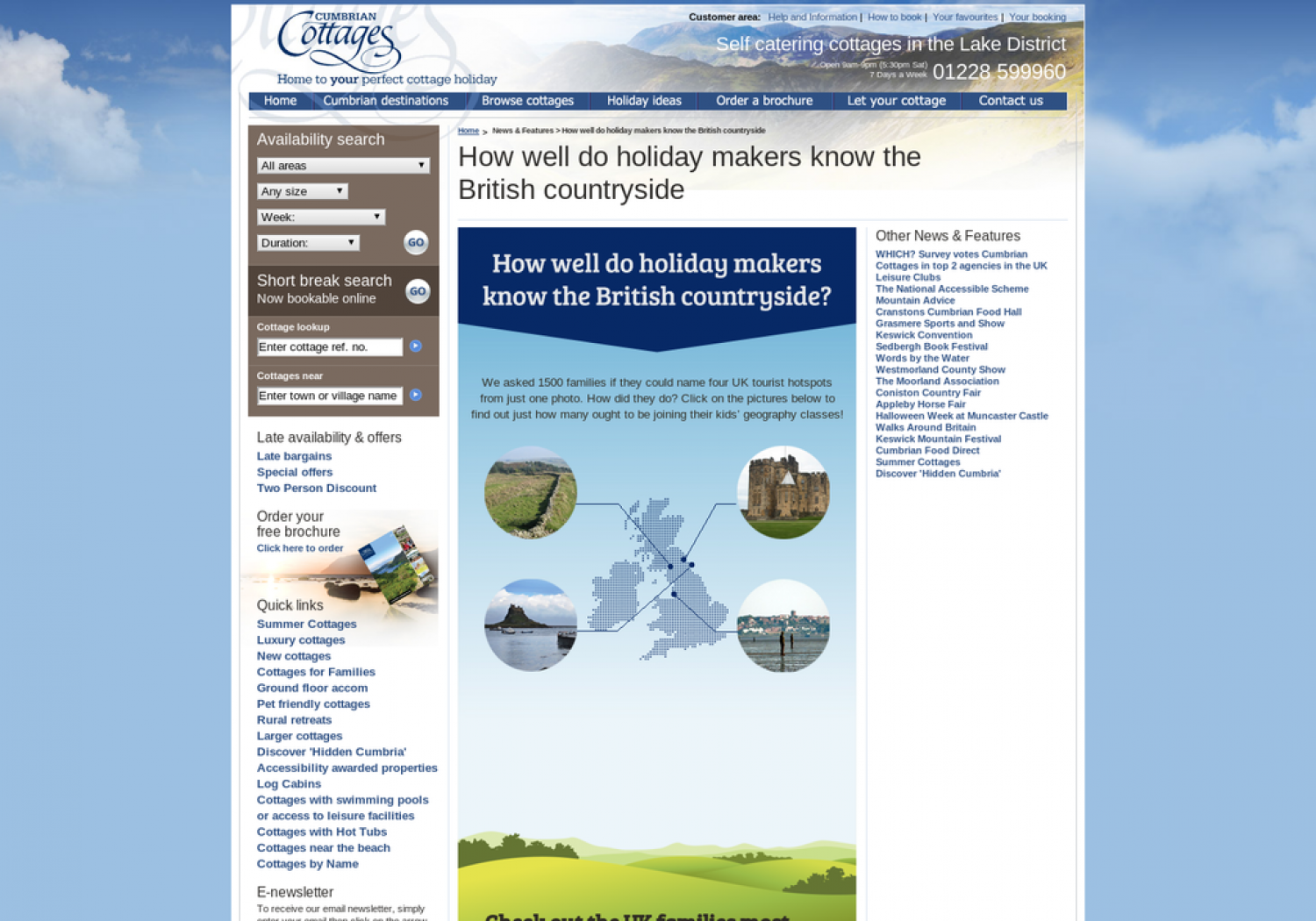 How well do holiday makers know the British countryside Infographic