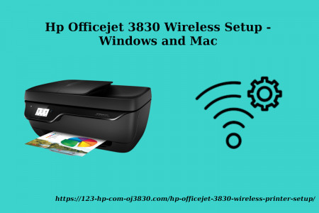 Hp Officejet 3830 Wireless Setup - Windows and Mac Infographic