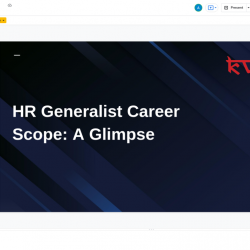 HR Generalist Career Scope: A Glimpse | Visual.ly