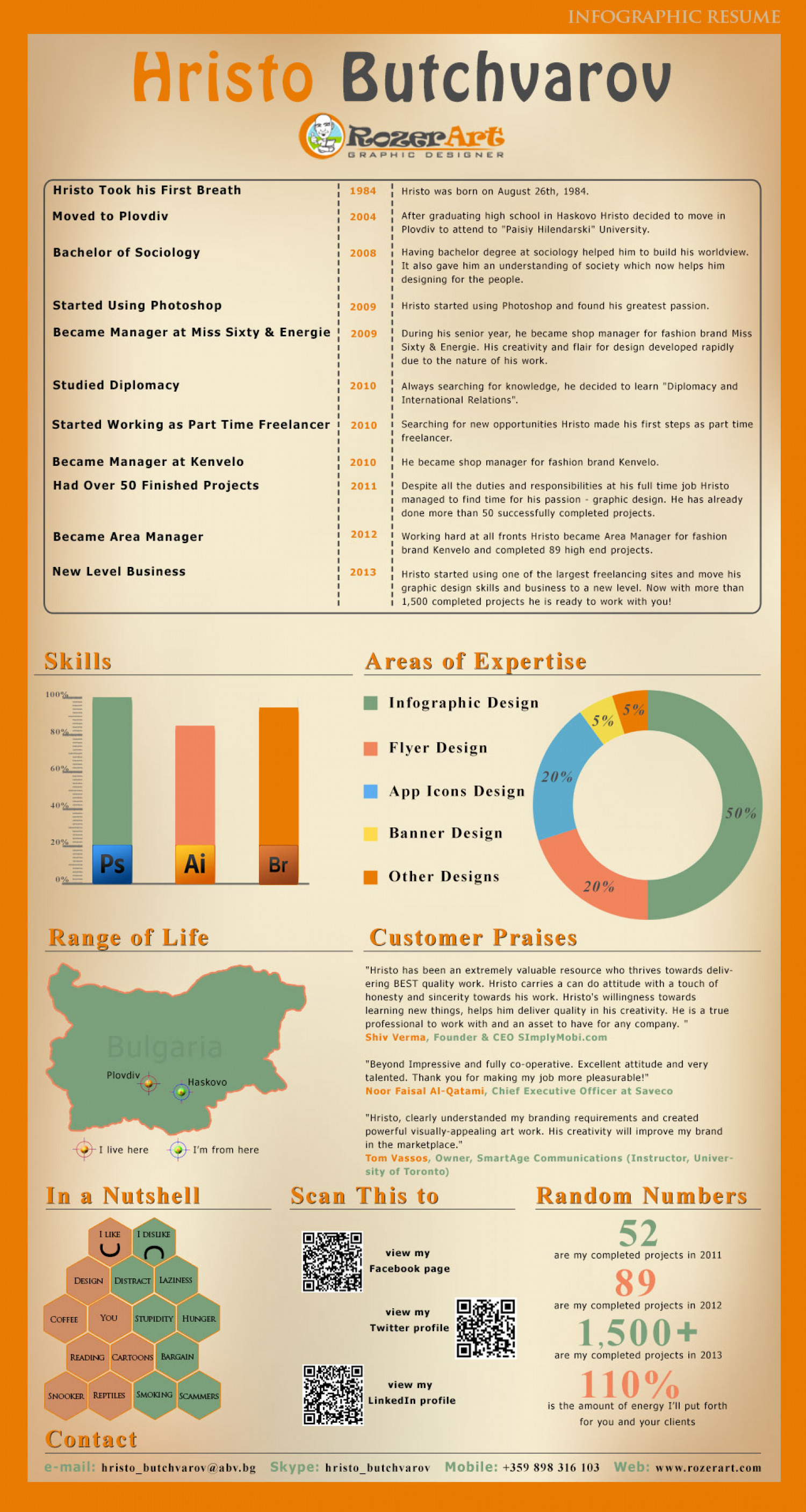 Infographic resume sites