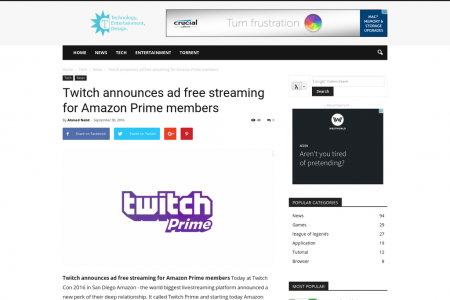 http://ct3ch.net/twitch-announces-ad-free-streaming-for-amazon-prime-members/ Infographic