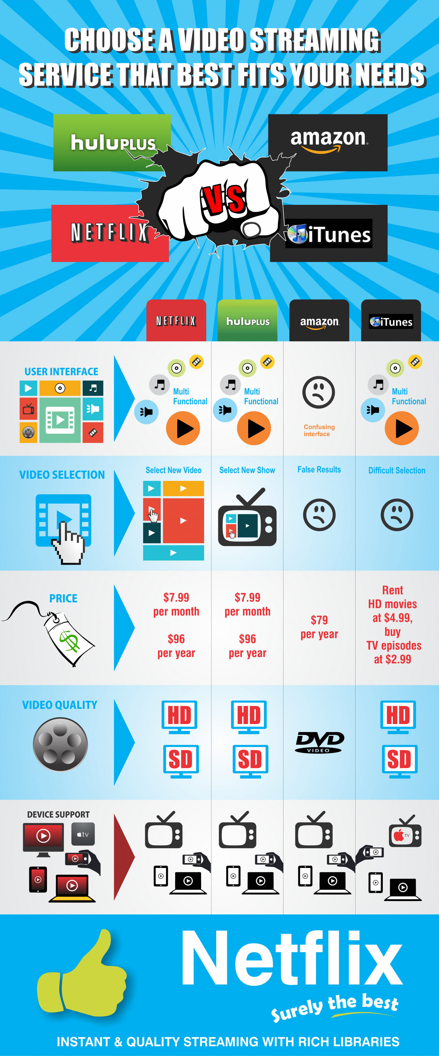 Choose A Video Streaming Service That Best Fits Your Needs Infographic