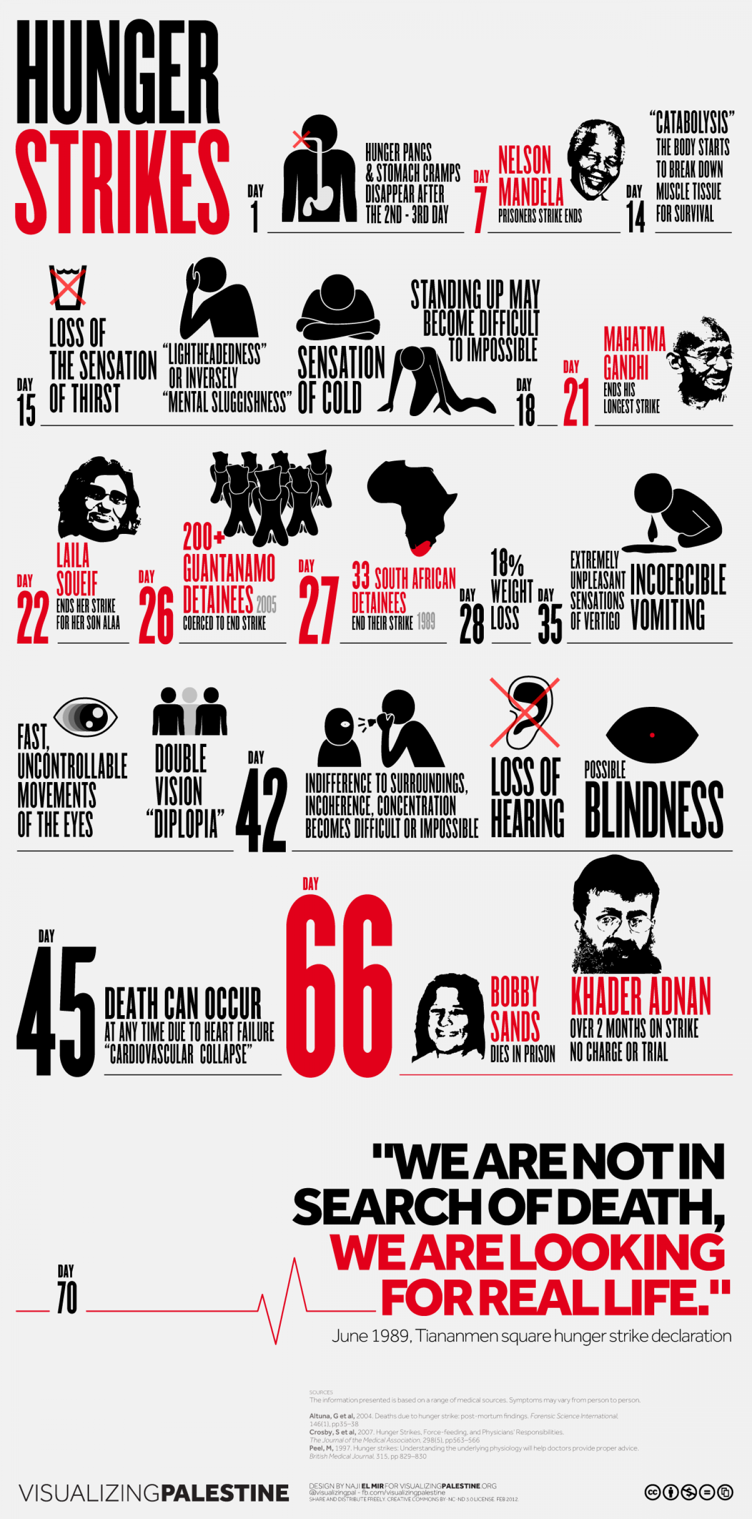 Hunger Strikes Infographic