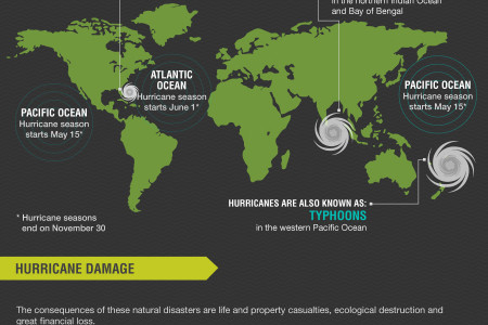 Hurricane Damage: Recovering from Nature's Fiercest Storm Infographic