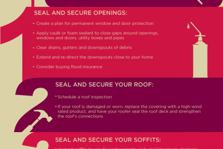 Hurricane Preparedness Tips Infographic