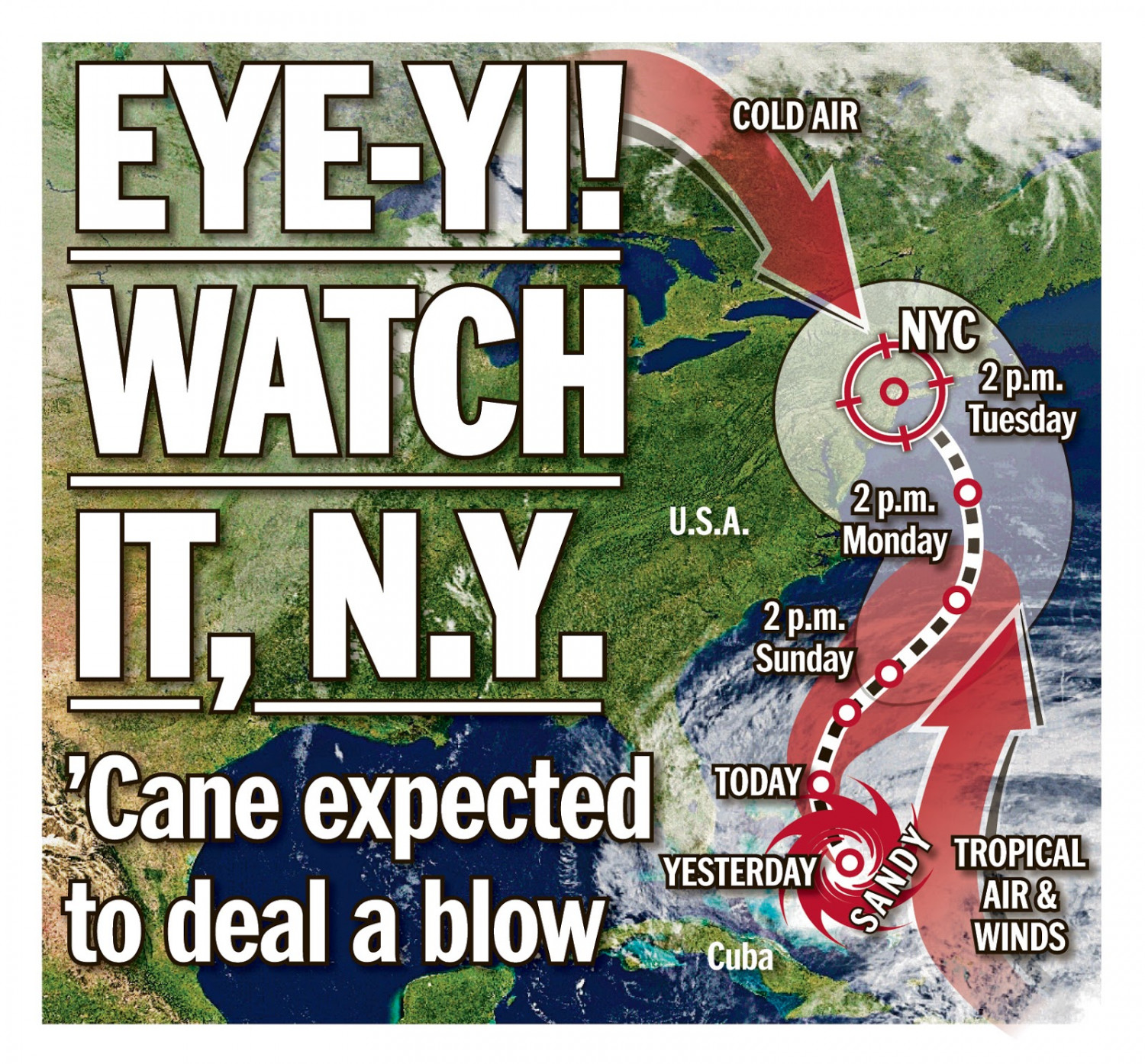 Hurricane Sandy NYDN.com Infographic
