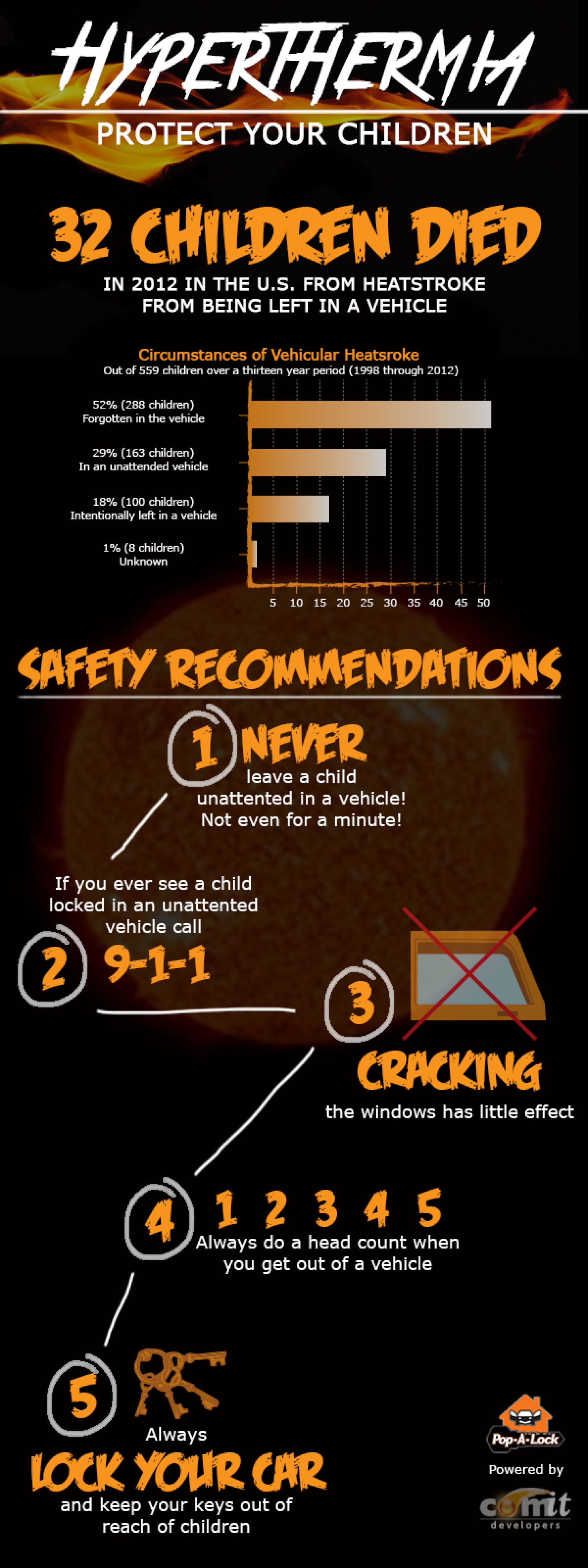Hyperthermia: Protect Your Children Infographic
