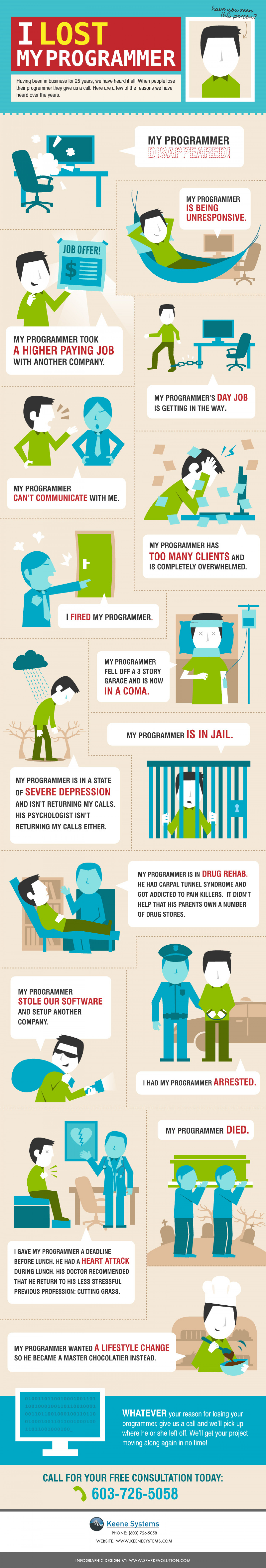 I Lost My Programmer Infographic