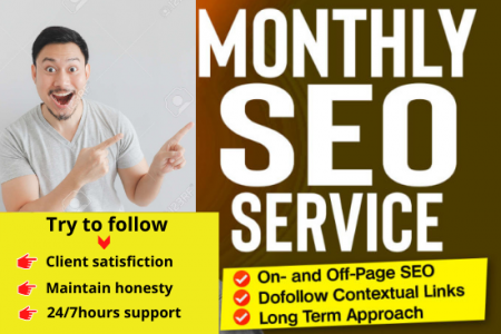 I will do monthly wordpress SEO on page with dofollow backlinks Infographic