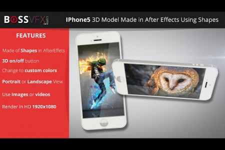 iPhone 5 3D Model After Effects Templates Infographic