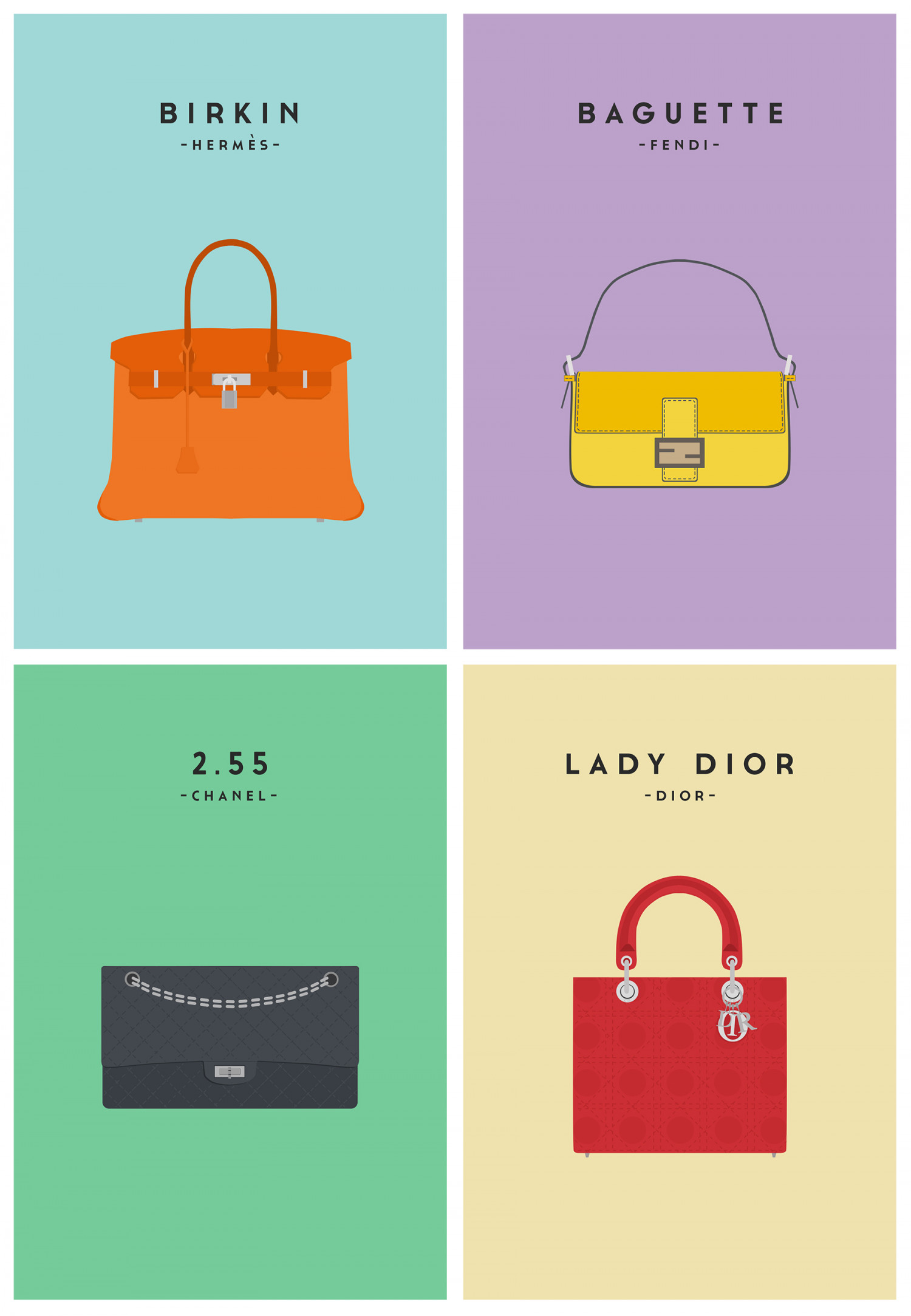Iconic Handbags Infographic