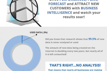 If you can't analyze that business data, then your decisions are merely guesswork. Without BI analysis your business knows nothing! Infographic