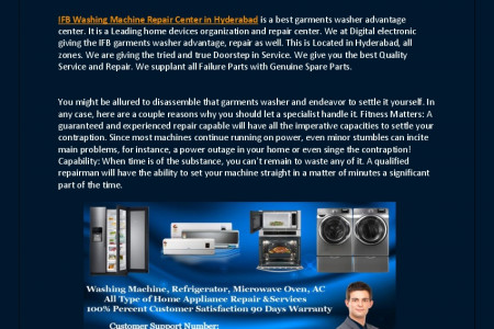 IFB Washing Machine Repair Center in Hyderabad Infographic