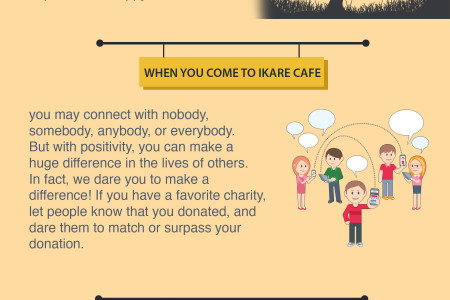 iKare Cafe - A Positive Social Media Site For A Better and Happy World Infographic