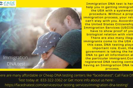 Immigration DNA Test Infographic