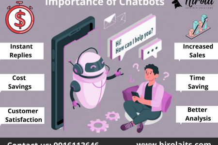Importance of ChatBots- Hirola Infotech Solutions Top Digital Marketing Agency Infographic