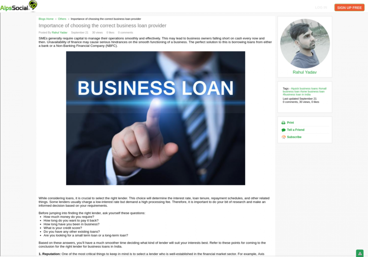 Importance of choosing the correct business loan provider Infographic