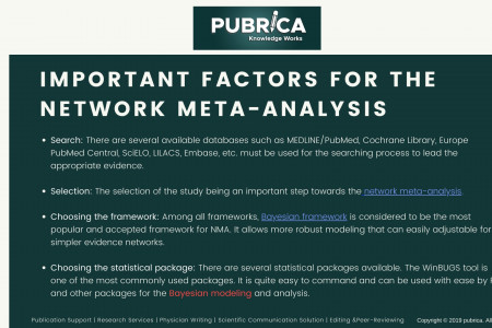 Important factors for the Network Meta-Analysis - Scientific research Infographic