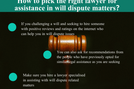 Important factors to learn while hiring a lawyer for challenging a will Infographic