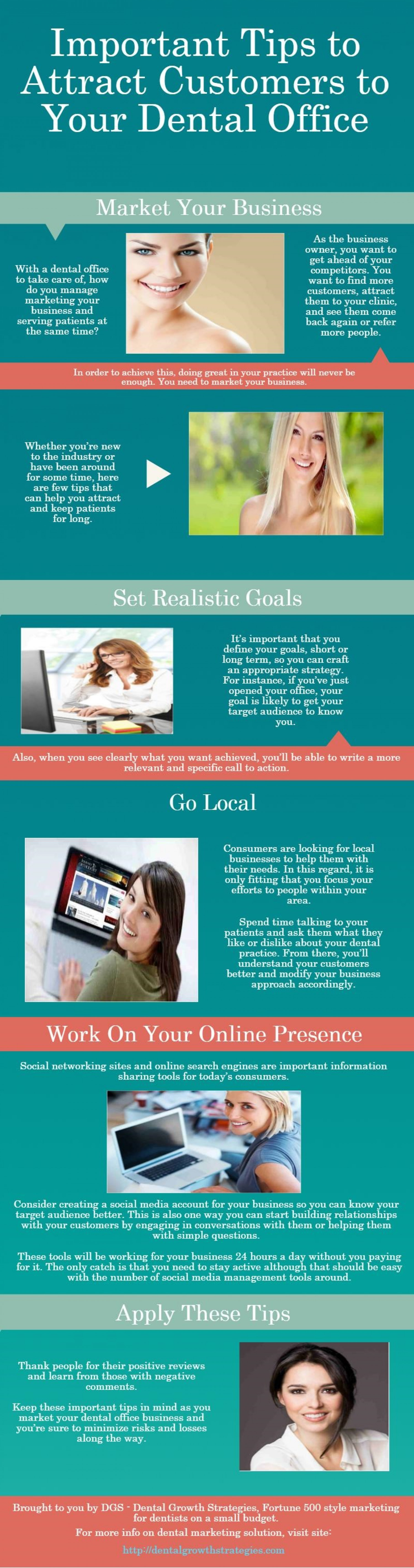 Important Tips to Attract Customers to Your Dental Office Infographic