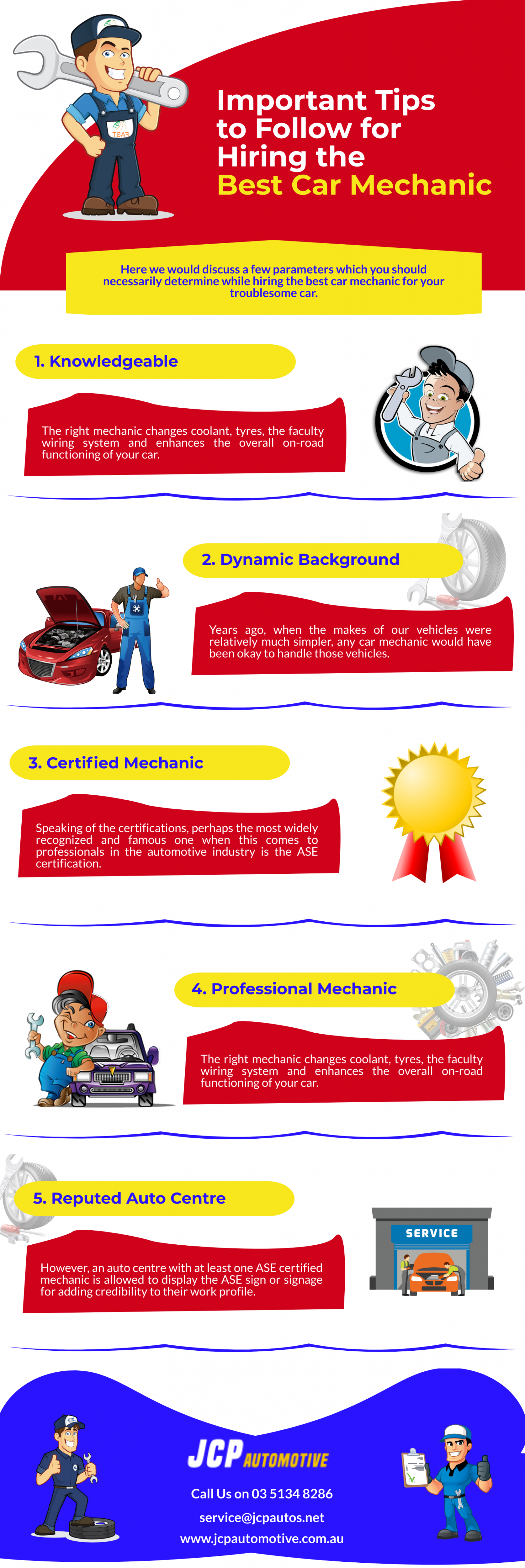Important Tips to Follow for Hiring the Best Car Mechanic Infographic