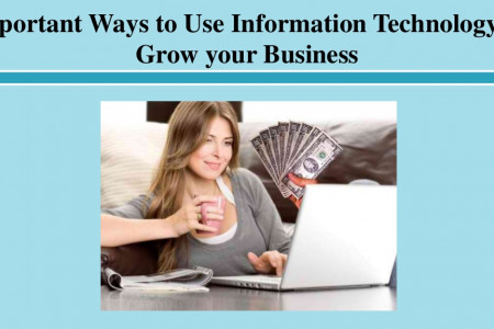 Important Ways to Use Information Technology to Grow your Business Infographic