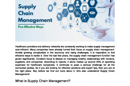 Improve Healthcare Supply Chain Management With Five Effective Ways Infographic