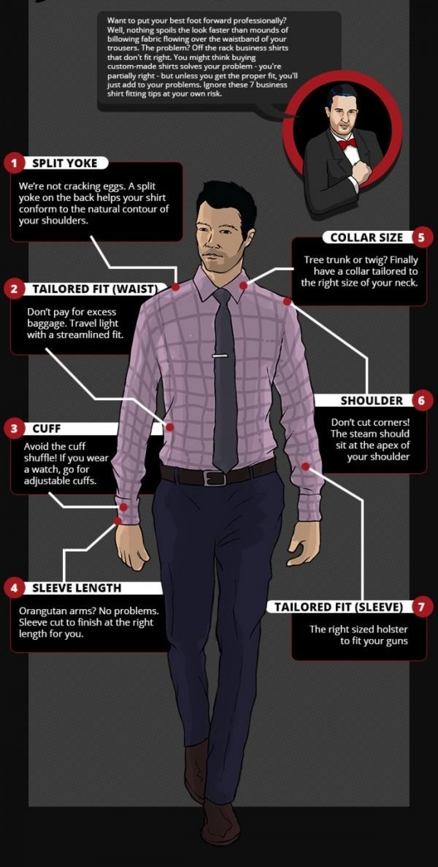 Improve The Way You Stitch Your Custom Tailored Shirts Infographic