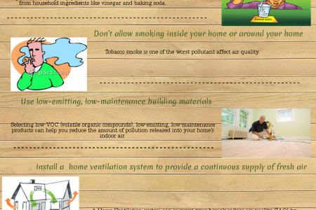 Improving your's home indoor air quality Infographic