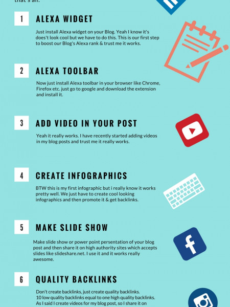 Increase Alexa Rank Of Your Blog Quickly. Infographic