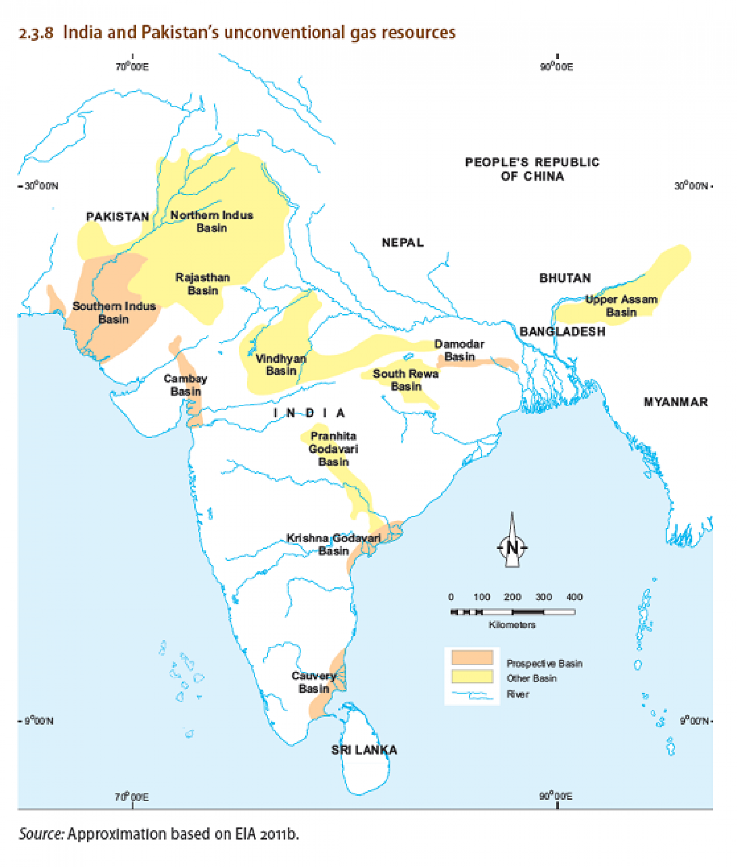 India and Pakistan's unconventional gas resources Infographic
