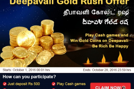 Indian Rummy Winners of Deepavali Gold Rush 2016 at Rummy Passion  Infographic