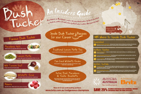 INSIDER'S GUIDE TO AUSTRALIAN BUSH TUCKER Infographic
