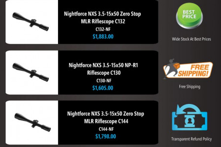 Infographic - Nightforce NXS Scopes Models and Prices Online Infographic