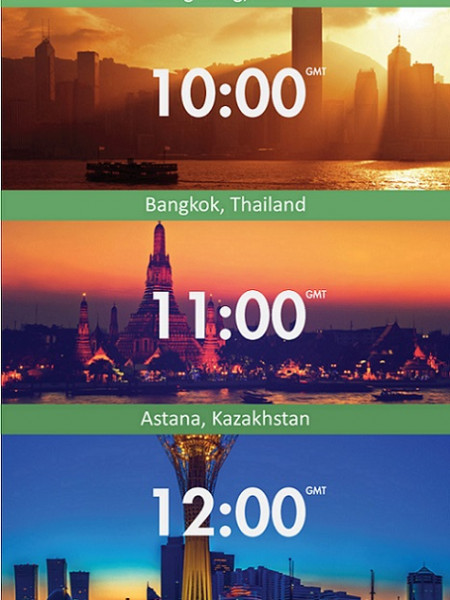 24 Hours of Sunsets Infographic